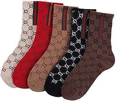 Bocotoer Pack de 5 medias medias de algodón para mujeres y niñas ...