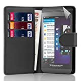 32nd Book wallet PU leather case cover for Blackberry Z10 - Black