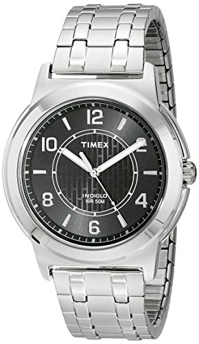 (Timex Men's TW2P61800 Fieldstone Way Silver-Tone Stainless Steel Expansion Band Watch)