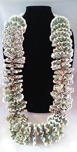 The Lei Company Dolla Dolla Bill Money Lei, 50-Dollar Value, Constructed of (50) One Dollar Bills by The Lei Company