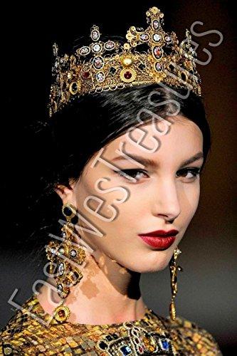EWT Dolce Royal crown ANTHROPOLOGIE BAROQUE Zara style Large Cross drop dangle Statement Earrings/large Cross dangle - And Baroque Gabbana Dolce