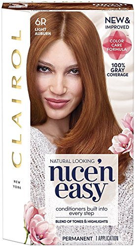 Clairol Nice 'n Easy Permanent Color, 6R/110 Natural Light Auburn 1 (Clairol Nice N Easy Shades)