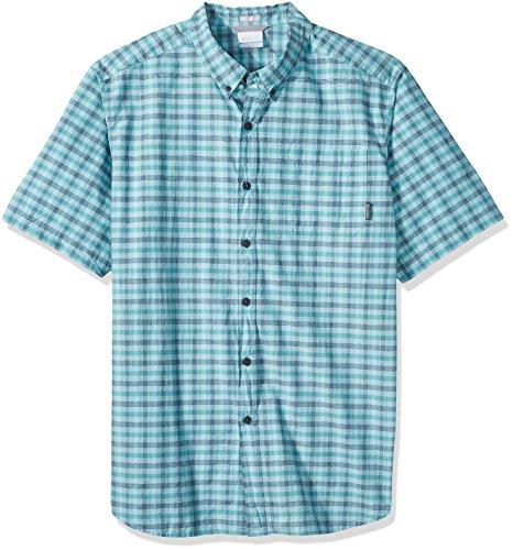 (Columbia Men's Rapid Rivers Ii Big and Tall Short Sleeve Shirt, Teal Small Plaid, 4X)