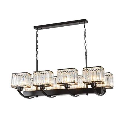 Amazon.com: Haixiang Lámpara de techo colgante de cristal ...