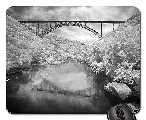 Mouse Pad - New River Gorge Bridge Arch Black and White