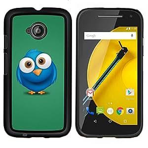 """Be-Star Único Patrón Plástico Duro Fundas Cover Cubre Hard Case Cover Para Motorola Moto E2 / E(2nd gen)( Blue Bird Big Eyes dibujo dibujos animados"""" )"""