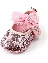 Baby Girl Moccasins Princess Sparkly Premium Lightweight Soft Sole Prewalker Toddler Shoes