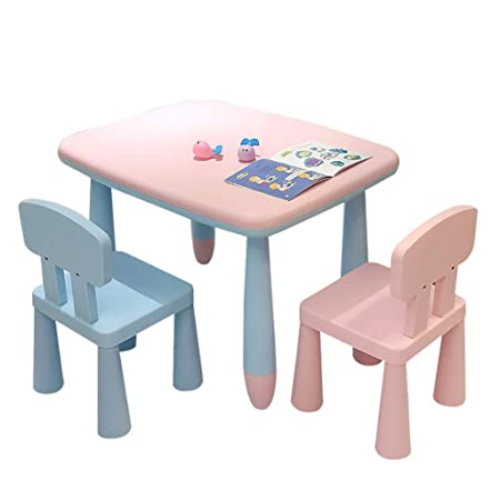 Children Desk Juego De Mesas Y Sillas De Plástico para Niños Mesa ...
