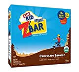 Clif Kid Zbar - Organic - Chocolate Brownie - Case of 12 Boxes - 6 Bars of 1.27 oz each per Box - 72 Bars Total