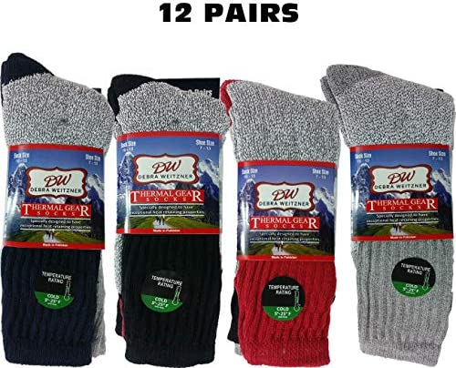 12 Pairs Thermal Insulated Boot Socks for Men and Women Ultra Warm Thick Winter Socks Debra Weitzner