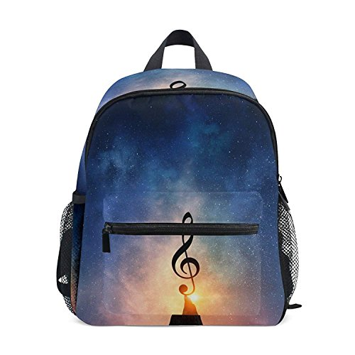 Mini Backpack Music Note In Sky Daypack Lightweight Cute for Boys