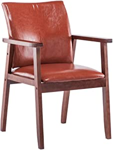 Kitchen & Dining Room Chairs Side Chairs Nordic Solid Wood Dining Room Chair, Modern Backrest Armrests Desk Chair, Meeting Reception Lounge Chair, for Office Counter Bedroom Cafe Vanity