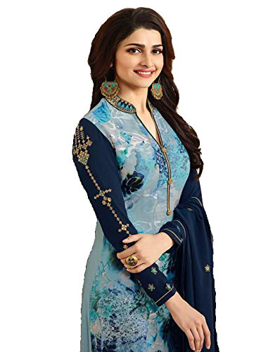 Indian Pakistani Ready Made Designer Fashion Salwar Suit Party Wear (Blue, - Women Suits For Party Salwar Wear