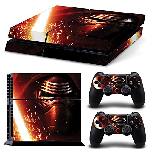 FriendlyTomato PS4 Console and DualShock 4 Controller Skin Set -Star Warrior - PlayStation 4 Vinyl