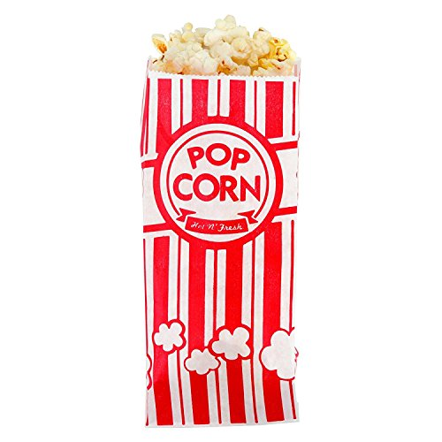 Popcorn Bags - 1oz Classic Red & White Stripes (1000)