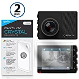 BoxWave Garmin Dash Cam 65W Screen Protector, [ClearTouch Crystal (2-Pack)] HD Film Skin - Shields From Scratches for Garmin Dash Cam 65W, Cam 55, Cam 45