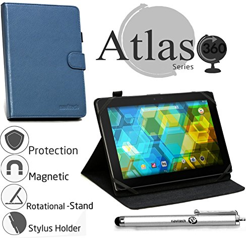 - Navitech Blue Faux Leather Case Cover with Stand Compatible with The ARCHOS 101b Oxygen