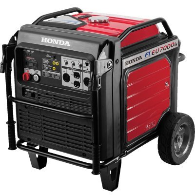 Honda 7000W Super Quiet Light Weight Inverter 120 240V Fuel Efficient Generator With Imonitor Lcd