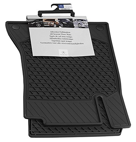 Genuine Mercedes 2015 C-class Sedan All-season Floor Mats, 2pc set for front seats in BLACK. (Mercedes Oem Accessories)