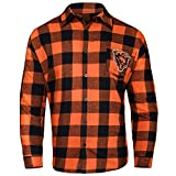 FOCO CHICAGO BEARS LARGE CHECK FLANNEL SHIRT - MENS MEDIUM