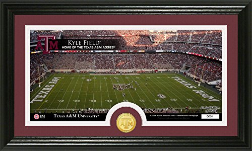 The Highland Mint NCAA Texas A&M Aggies Stadium Bronze Coin Panoramic Photo Mint, 22