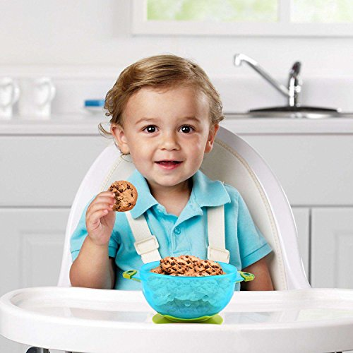 Zooawa Baby Bowls with Suction Base, 3-Pack Nonslip Spill Proof Feeding Training Bowl Dinnerware with Seal Easy Lid for Babies, BPA-Free, for Over 6 Months Infants, Colorful by Zooawa (Image #6)