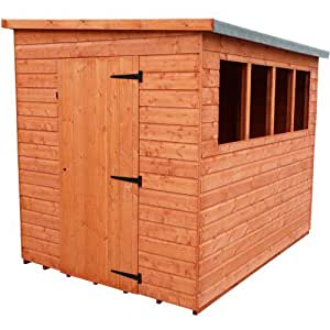 Strongman 7ft x 5ft (2.05m x 1.45m) Lean-To Pent Shiplap Shed