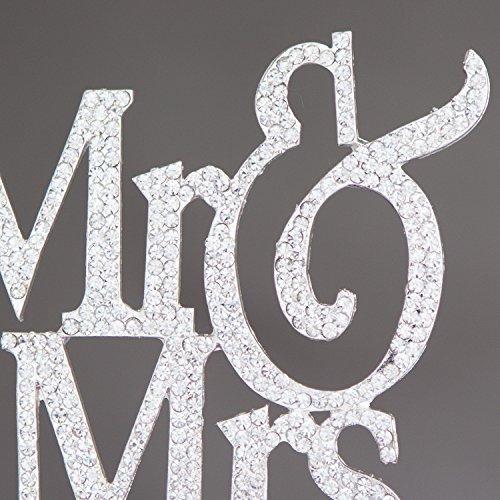 Mr And Mrs Cake Topper Rhinestones