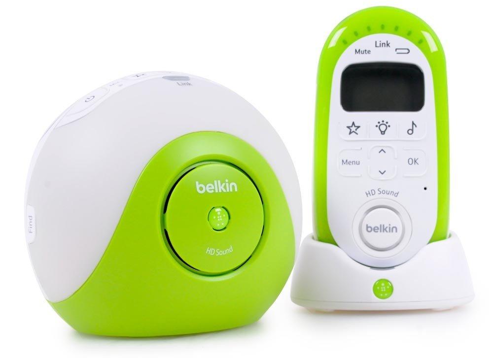 Bébé sucette DECT babyphone avec gamme de projecteur de lumière jusqu'à 300 m HD sound Belkin F7C036qh