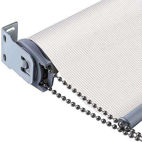 PASSENGER PIGEON Solar Window Shades, Premium Light Filtering UV Protection Flame Retardant Water Proof Custom Made 23 Roller Shade, White, 23