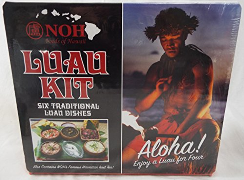 NOH Foods of Hawaii Luau Kit 6 Traditional Luau Dishes Seasoning Kit (Luau Dish)