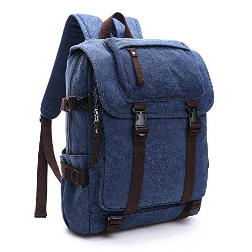 Sacchetti Universitario Scuola Blu Viaggio Casuali Fashion Da Zaino Di Stile Tela Minetom Borsa Square 5aStq7wtx