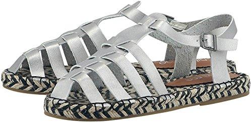 NIKKI ME Women's Ancient Greek Sandals Silver vXTuf0
