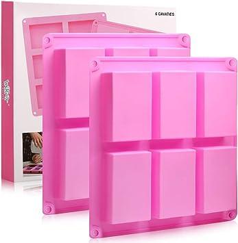 Amazon.com: Moldes de silicona para jabón, 2 unidades, 6 ...