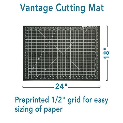 Vantage Cutting Mat 18 Quot X 24 Quot Black Rotary Self Healing