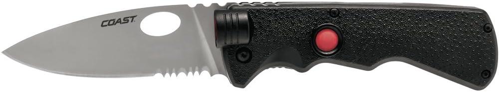 Coast LK375 Taktisches Klappmesser Messer mit Leuchte im Blisterpack