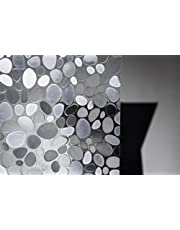 HaGa® Raamfolie Stones in 45cm breedte (meterwaren) - statische folie zelfklevend - zichtbeschermingsfolie voor ramen