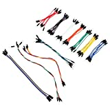 Aukru 70x Kit Flexible Solderless Jumpers Cable Male to Male Jumper Wires for Arduino Breadboard