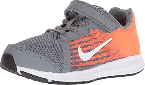 Nike Boy's Downshifter 8 (PS) Preschool Shoe Cool Grey/White/Hyper Crimson/Dark Grey Size 3 M US (Boys Preschool Nike Revolution 3 Running Shoes)