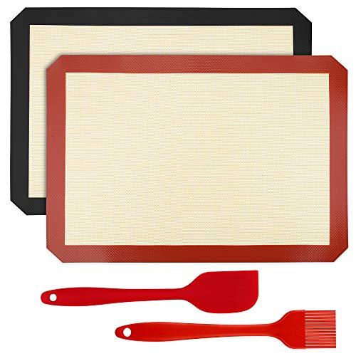 Mitening Siliconen bakmat, 2 Stukken Baking Mat Permanent Bakpapier Siliconenmat Bakmatten Herbruikbaar BPA-vrij Anti…