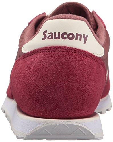 Saucony Mens Jazz Låg Pro Rödbrunt / Vit