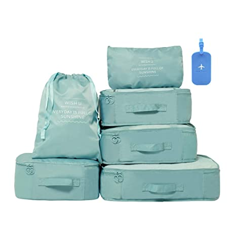 9a1e8423c2b9 Packing Cubes 7 pcs Travel Luggage Packing Organizers