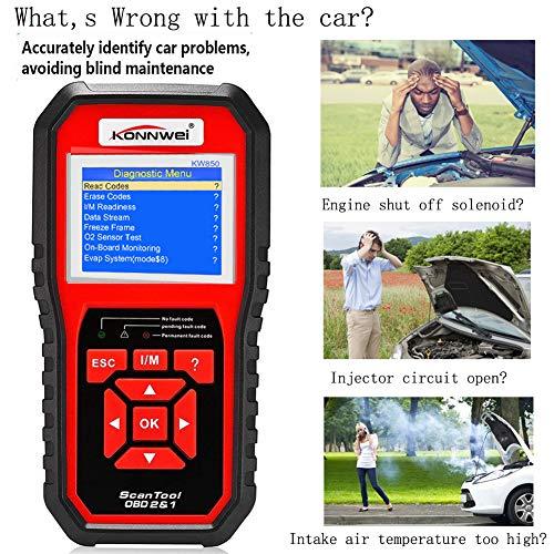 KONNWEI OBD2 Scanner Code Reader Professional OBD II Code Scanner Auto Diagnostic Check Engine Light Scan Tool for All OBD II Car After 1996 (Enhanced Version) by KONNWEI (Image #1)