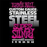 Ernie Ball Stainless Steel Super Slinky Set, .009 - .042