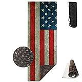 Flag of American Deluxe,Yoga Mat Aerobic Exercise Pilates Anti-Slip Gymnastics Mats