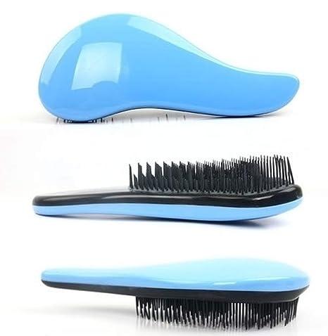 Magic Detangling Handle Shower Tamer Hair Brush Comb Salon Styling Tool (blue)