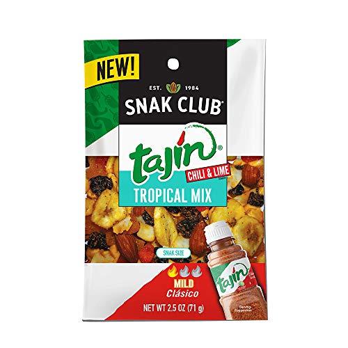 Snak Club Tajin Tropical Mix, 2.5oz Bags (Pack of 12)