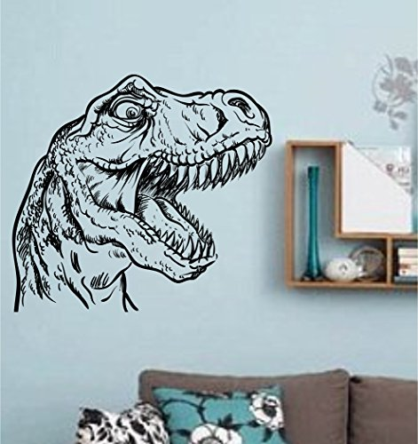 - T Rex Dinosaur Head Vinyl Wall Decal Sticker Zoo Modern Wall Mural Art Animal Dino