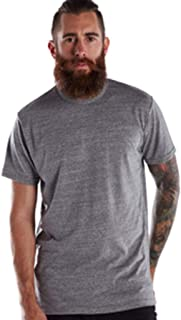 product image for US Blanks Men's Short-Sleeve Made in USA Triblend T-Shirt M TRI GREY