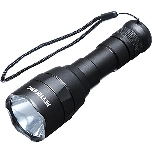 Revtronic Rechargeable Flashlight - Super Bright, Waterproof LED Flashlight for Camping and Hiking, 800 Lumens CREE LED Flashlight, Adjustable Brightness - Bundle with USB Smart Charger, 18650 Battery